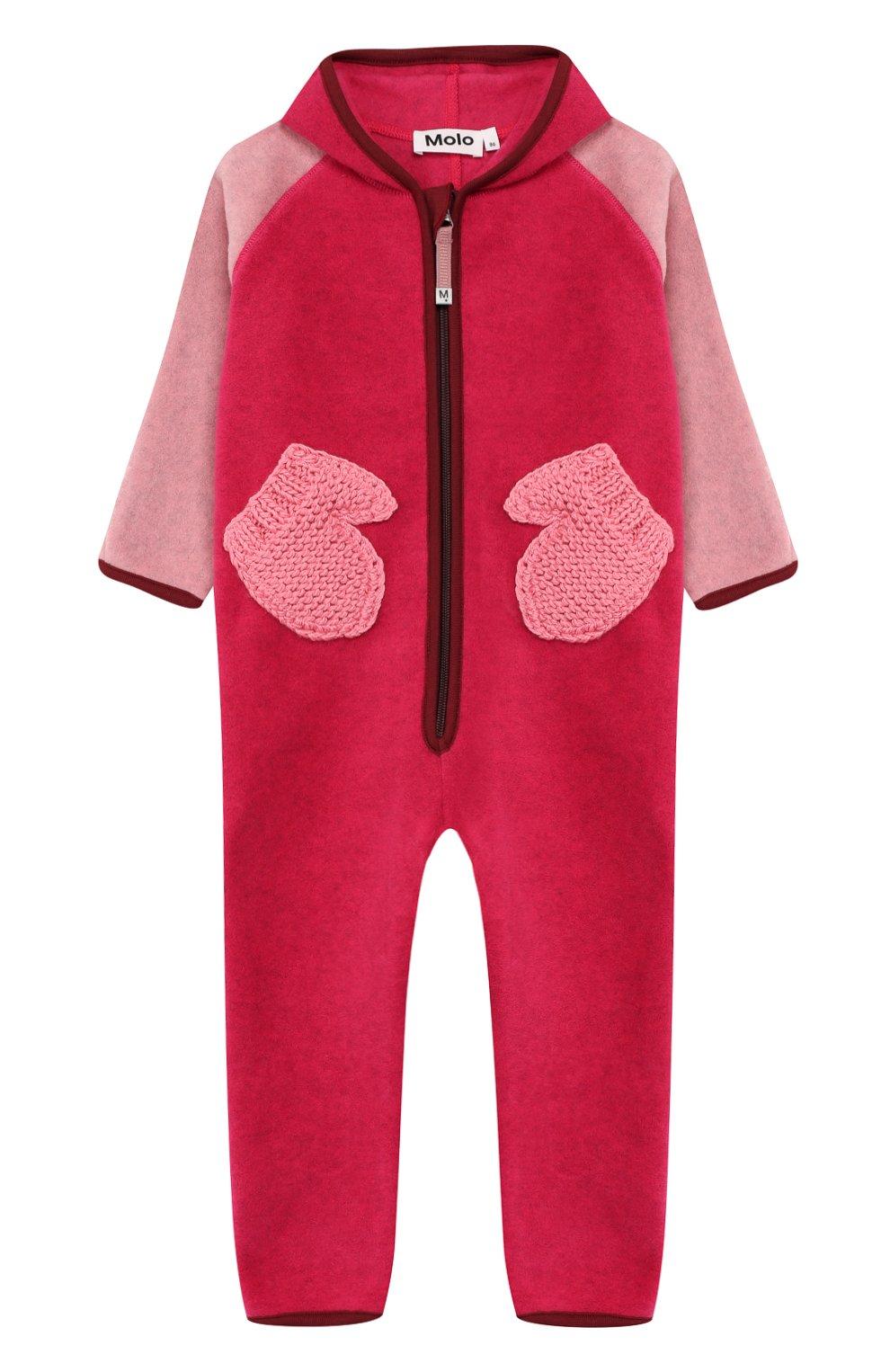 Детский комбинезон MOLO розового цвета, арт. 5W19L301   Фото 1