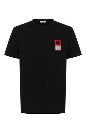 Мужская хлопковая футболка 7 moncler fragment hiroshi fujiwara MONCLER GENIUS черного цвета, арт. E2-09U-80027-50-8392B | Фото 1