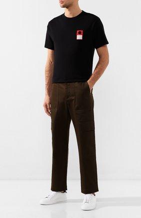 Мужская хлопковая футболка 7 moncler fragment hiroshi fujiwara MONCLER GENIUS черного цвета, арт. E2-09U-80027-50-8392B | Фото 2