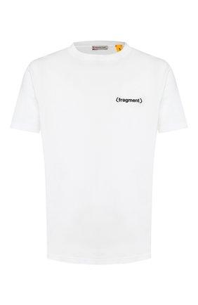 Мужская хлопковая футболка 7 moncler fragment hiroshi fujiwara MONCLER GENIUS белого цвета, арт. E2-09U-80024-50-8392B   Фото 1