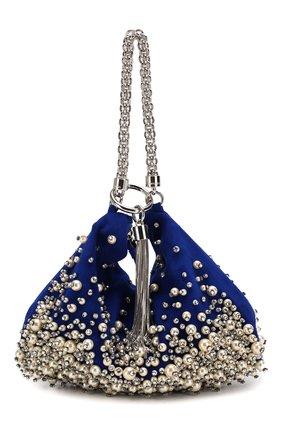 Женский клатч callie JIMMY CHOO синего цвета, арт. CALLIE/DPK | Фото 1