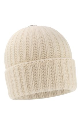Женский шерстяная шапка с помпонами YVES SALOMON белого цвета, арт. 20WAA523XXMARD | Фото 2
