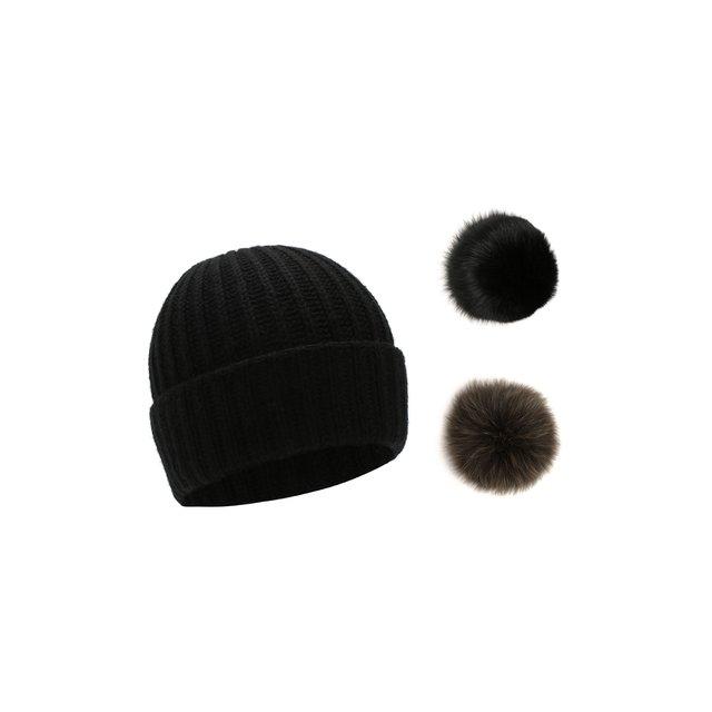 Шерстяная шапка с помпонами Yves Salomon