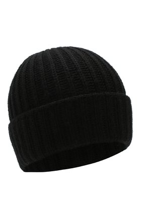 Женский шерстяная шапка с помпонами YVES SALOMON черного цвета, арт. 20WAA523XXMARD | Фото 2