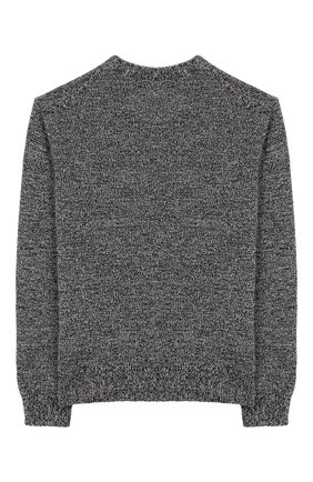 Детский свитер из смеси шерсти и кашемира DOLCE & GABBANA серого цвета, арт. L4KW41/JAMYK/8-14 | Фото 2