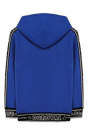 Детский хлопковая толстовка DOLCE & GABBANA синего цвета, арт. L4JW4S/G7TUT/8-14 | Фото 2