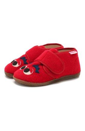 Детского домашние ботинки NATURINO красного цвета, арт. 0014000646/01/27-29 | Фото 1