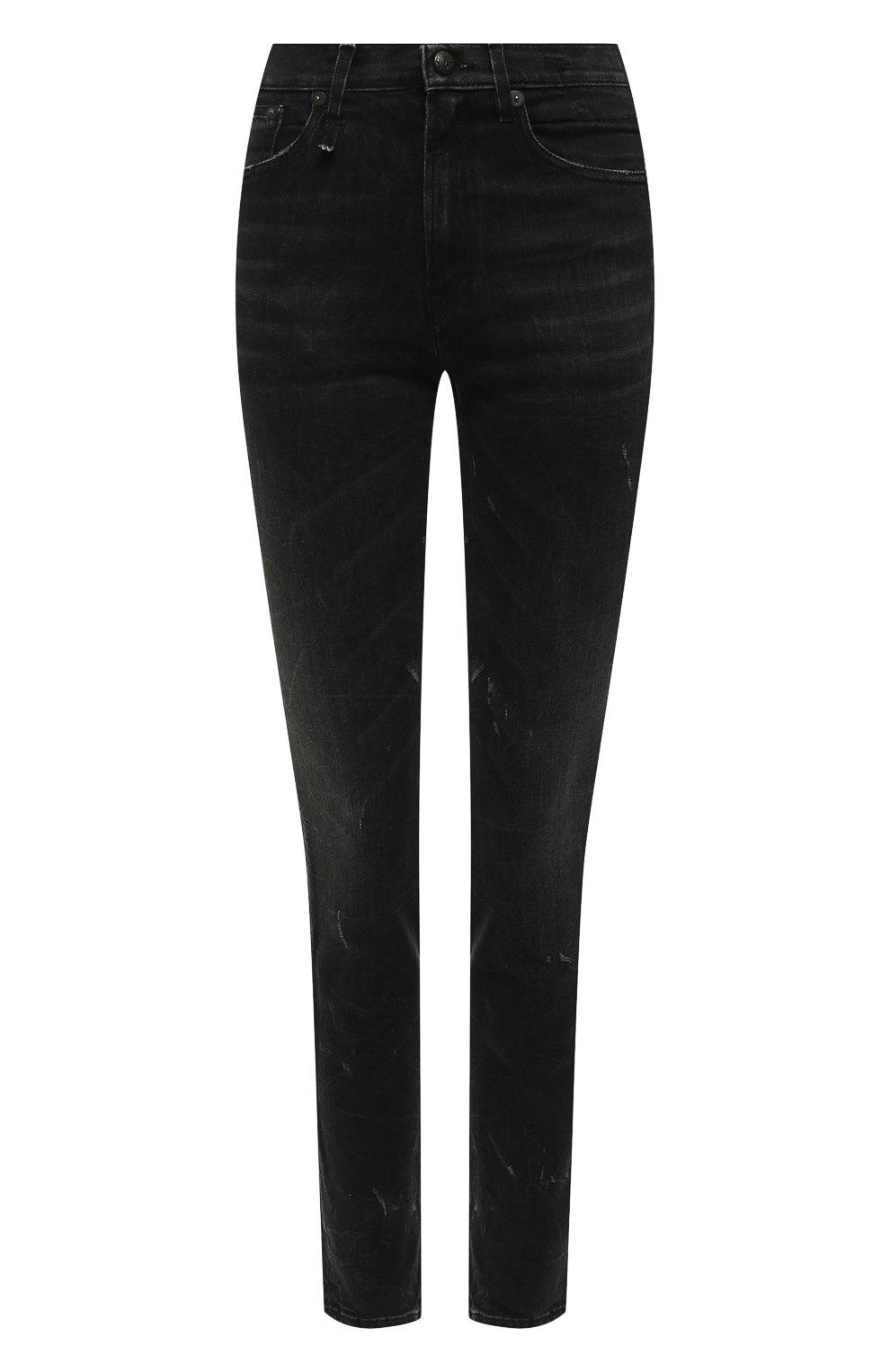 Женские джинсы R13 черного цвета, арт. R13W0023-40 | Фото 1