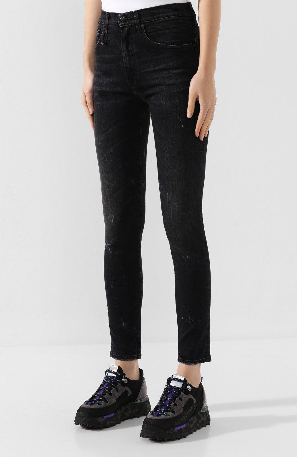 Женские джинсы R13 черного цвета, арт. R13W0023-40 | Фото 3