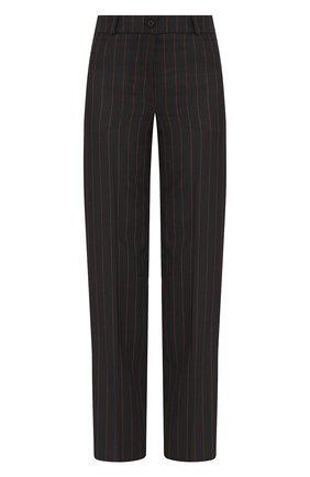 Женские брюки в полоску MCQ SWALLOW черного цвета, арт. 566044/RNQ32 | Фото 1