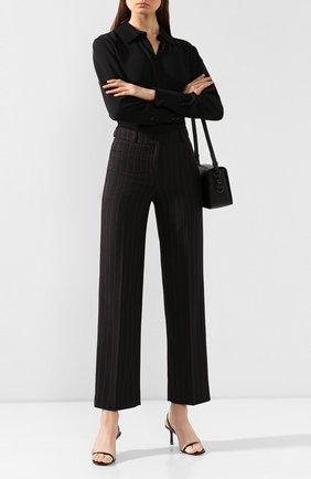Женские брюки в полоску MCQ SWALLOW черного цвета, арт. 566044/RNQ32 | Фото 2