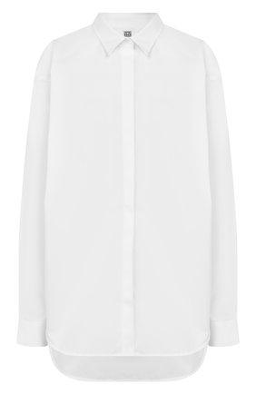 Женская хлопковая рубашка TOTÊME белого цвета, арт. LAG0 194-752-709 | Фото 1