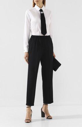 Женская хлопковая рубашка WEILL белого цвета, арт. 117024 | Фото 2 (Материал внешний: Хлопок; Длина (для топов): Стандартные; Рукава: Длинные; Принт: Без принта; Женское Кросс-КТ: Рубашка-одежда)