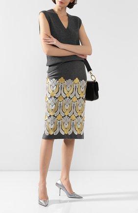 Женская юбка DRIES VAN NOTEN серого цвета, арт. 192-10816-8121 | Фото 2