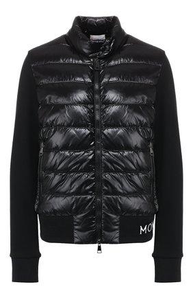 Женский утепленный кардиган MONCLER черного цвета, арт. E2-093-84621-00-V8080 | Фото 1