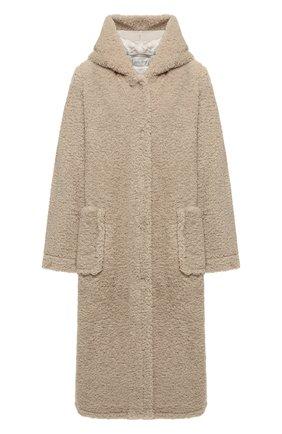 Женское пальто с капюшоном FORTE_FORTE бежевого цвета, арт. 6702 | Фото 1