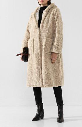 Женское пальто с капюшоном FORTE_FORTE бежевого цвета, арт. 6702 | Фото 2