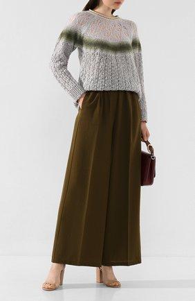 Женские шерстяные брюки FORTE_FORTE хаки цвета, арт. 6733 | Фото 2