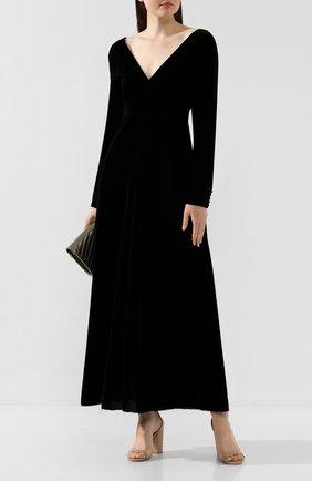 Женское платье из вискозы FORTE_FORTE черного цвета, арт. 6762 | Фото 2