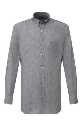Мужская хлопковая рубашка PAUL&SHARK темно-синего цвета, арт. I19P3153 | Фото 1
