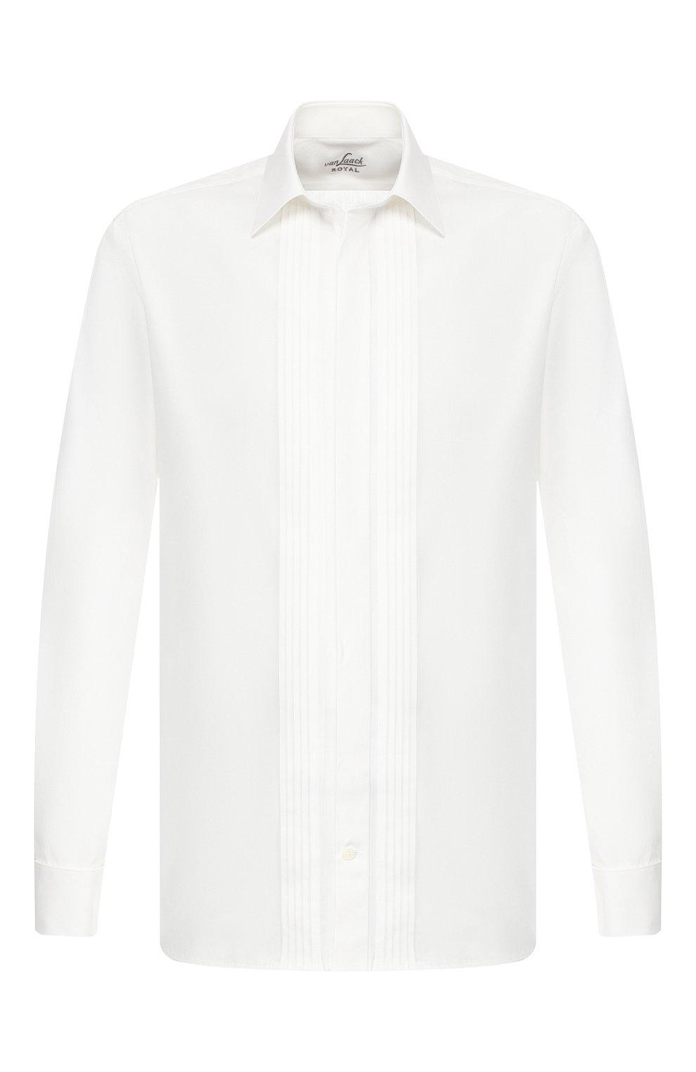Мужская хлопковая сорочка VAN LAACK белого цвета, арт. M0BIERE-DTF/130657   Фото 1 (Воротник: Кент; Рукава: Длинные; Длина (для топов): Стандартные; Материал внешний: Хлопок; Статус проверки: Проверено)