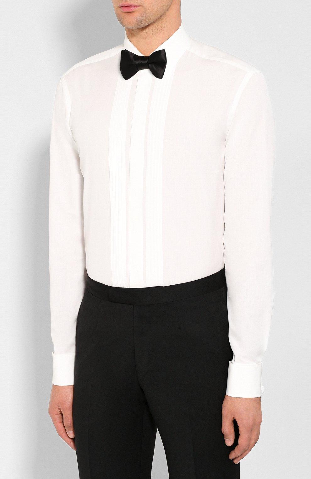 Мужская хлопковая сорочка VAN LAACK белого цвета, арт. M0BIERE-DTF/130657   Фото 4 (Воротник: Кент; Рукава: Длинные; Длина (для топов): Стандартные; Материал внешний: Хлопок; Статус проверки: Проверено)