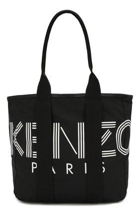 Мужская текстильная сумка-шопер KENZO черного цвета, арт. F955SF219F24 | Фото 1