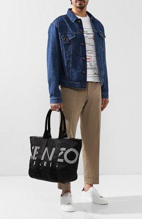 Мужская текстильная сумка-шопер KENZO черного цвета, арт. F955SF219F24 | Фото 2