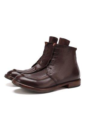 Мужские кожаные ботинки MOMA темно-коричневого цвета, арт. 2CW002-CU | Фото 1