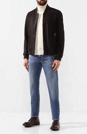 Мужские кожаные ботинки MOMA темно-коричневого цвета, арт. 2CW002-CU | Фото 2