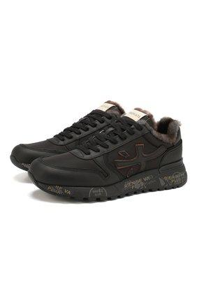 Мужские комбинированные кроссовки mick PREMIATA черного цвета, арт. MICK/VAR4329M | Фото 1