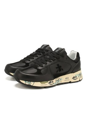 Мужские кожаные кроссовки mase PREMIATA черного цвета, арт. MASE/VAR4145 | Фото 1