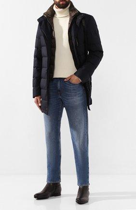 Мужские кожаные сапоги SANTONI темно-коричневого цвета, арт. MCWI15855FL1ADI0T60 | Фото 2