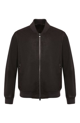 Мужской кожаный бомбер CORNELIANI коричневого цвета, арт. 84L5D6-9820108/00   Фото 1