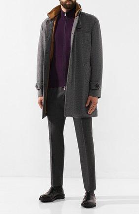 Мужская кардиган из смеси шерсти и кашемира BRUNELLO CUCINELLI фиолетового цвета, арт. M3600106 | Фото 2