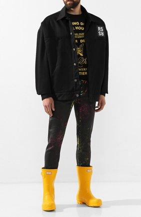 Мужские резиновые сапоги HUNTER желтого цвета, арт. MFS9000RMA   Фото 2