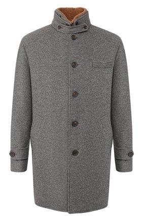 Кашемировое пальто с меховой подкладкой | Фото №1