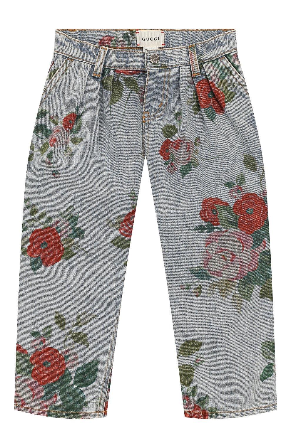 Детские джинсы GUCCI голубого цвета, арт. 572172/XDART | Фото 1