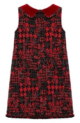 Детское твидовое платье DOLCE & GABBANA красного цвета, арт. L51DS7/FMMFJ/2-6 | Фото 2