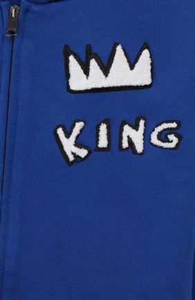 Детский хлопковый кардиган DOLCE & GABBANA синего цвета, арт. L1JW6W/G7TUT   Фото 3