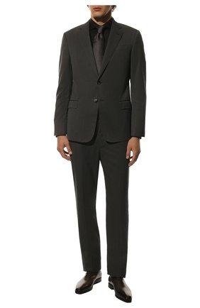 Мужские кожаные оксфорды BERLUTI коричневого цвета, арт. S3412-011 | Фото 2 (Материал внутренний: Натуральная кожа; Статус проверки: Проверено; Стили: Классический)