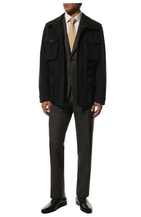 Мужские кожаные оксфорды BERLUTI темно-синего цвета, арт. S3412-013 | Фото 2