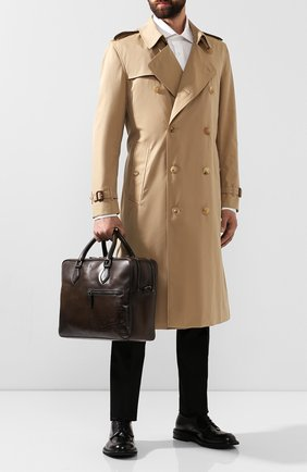 Мужская кожаная сумка для ноутбука BERLUTI коричневого цвета, арт. M149253 | Фото 2