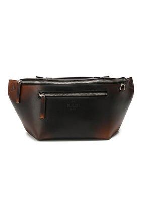 Мужская кожаная поясная сумка BERLUTI коричневого цвета, арт. M192899 | Фото 1