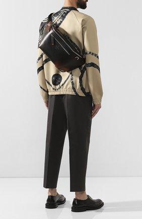 Мужская кожаная поясная сумка BERLUTI коричневого цвета, арт. M192899 | Фото 2