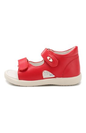 Детские кожаные босоножки с застежкой велькро FALCOTTO красного цвета, арт. 0011500728/01 | Фото 2