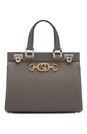 Женская сумка gucci zumi small GUCCI серого цвета, арт. 569712/1B90X | Фото 1