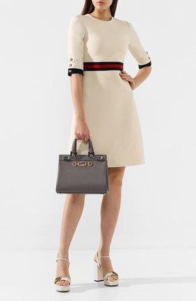 Женская сумка gucci zumi small GUCCI серого цвета, арт. 569712/1B90X | Фото 2
