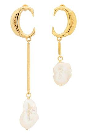 Женские серьги darcey CHLOÉ золотого цвета, арт. CHC19SFE73CPN105 | Фото 1