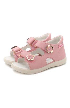 Детские кожаные босоножки FALCOTTO розового цвета, арт. 0011500727/01 | Фото 1